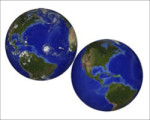 Dynamic Earth Projection Sphere – real-time weather and earthquakes