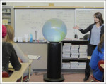 Pedestal Projection Globe Systems for Classroom