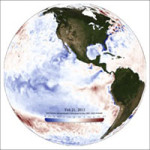 Sea Surface Temperature Anomaly Projection Sphere