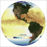 Sea Surface Temperature Spherical Projection Screen