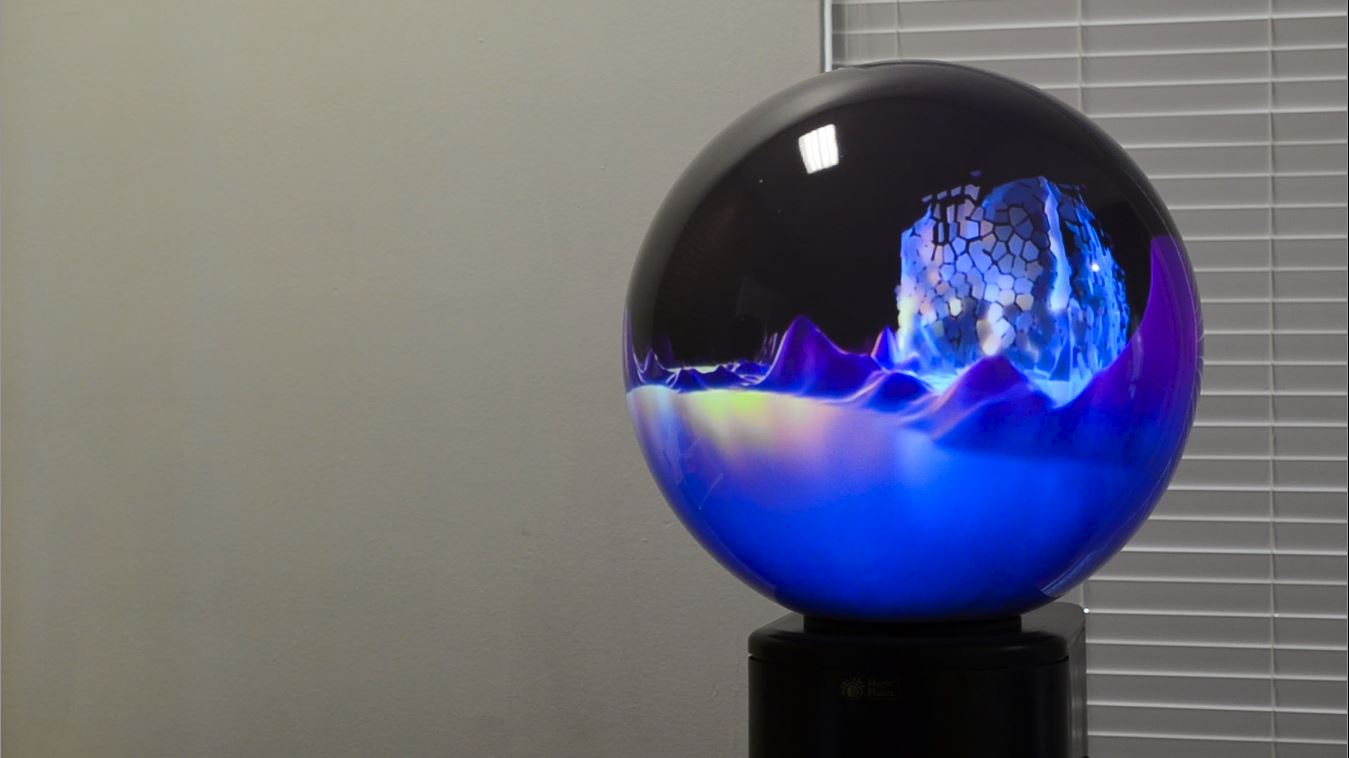 virtual reality projection globe